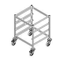 Dishwasher rack trolley K-4