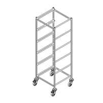 Dishwasher rack trolley K-6