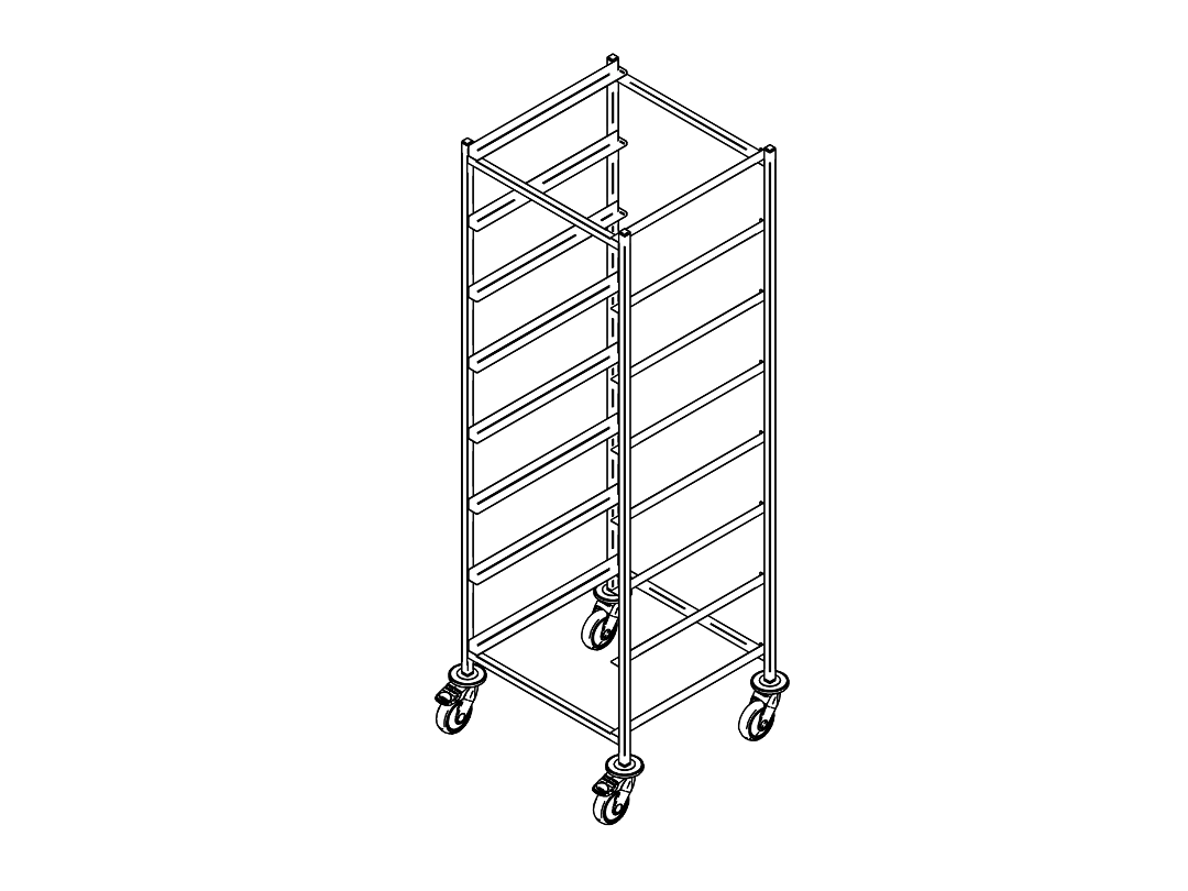 Dishwasher rack trolley K-8