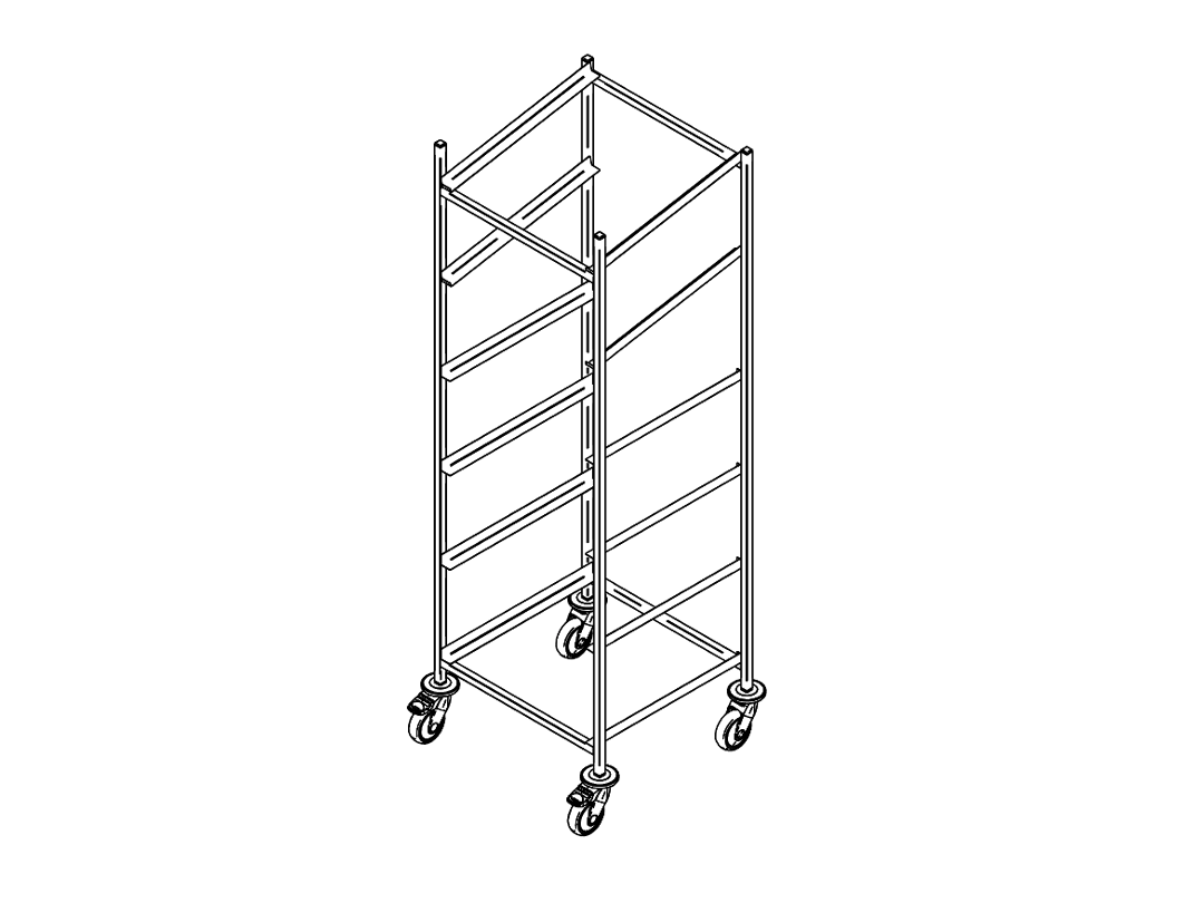 Dishwasher rack trolley K-6/2