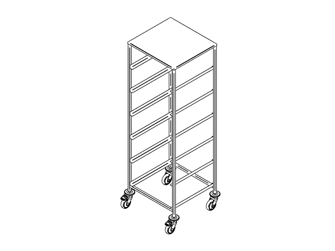 Dishwasher rack trolley K-6/UT