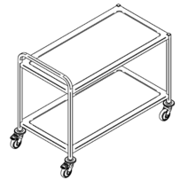 Two tier service trolley KV-112/2