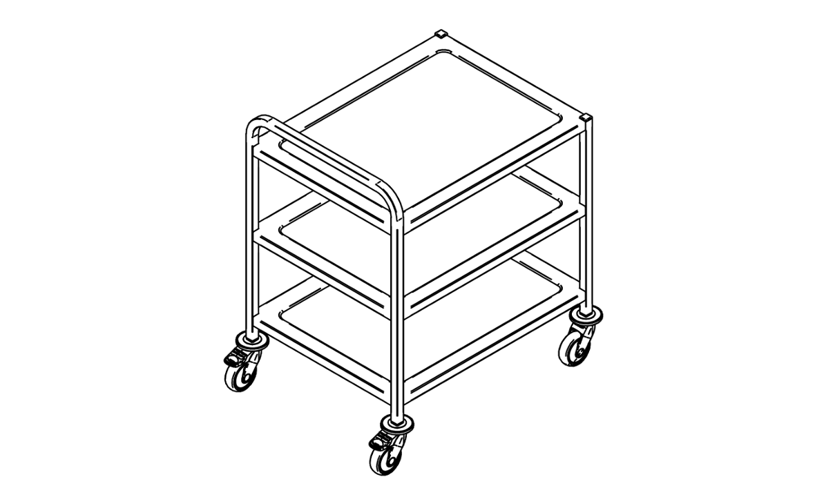 Three tier service trolley  KV-75/3