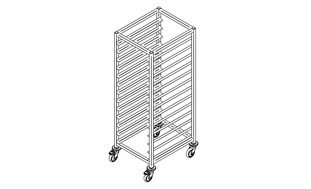 Bakery trolley P-13/450