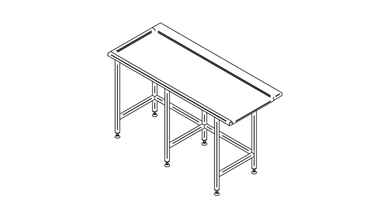 Stainless steel sorting table (1500-2900mm)