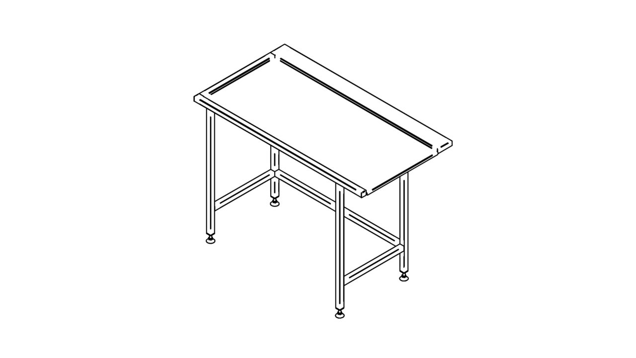 Stainless steel sorting table (600-1400mm)