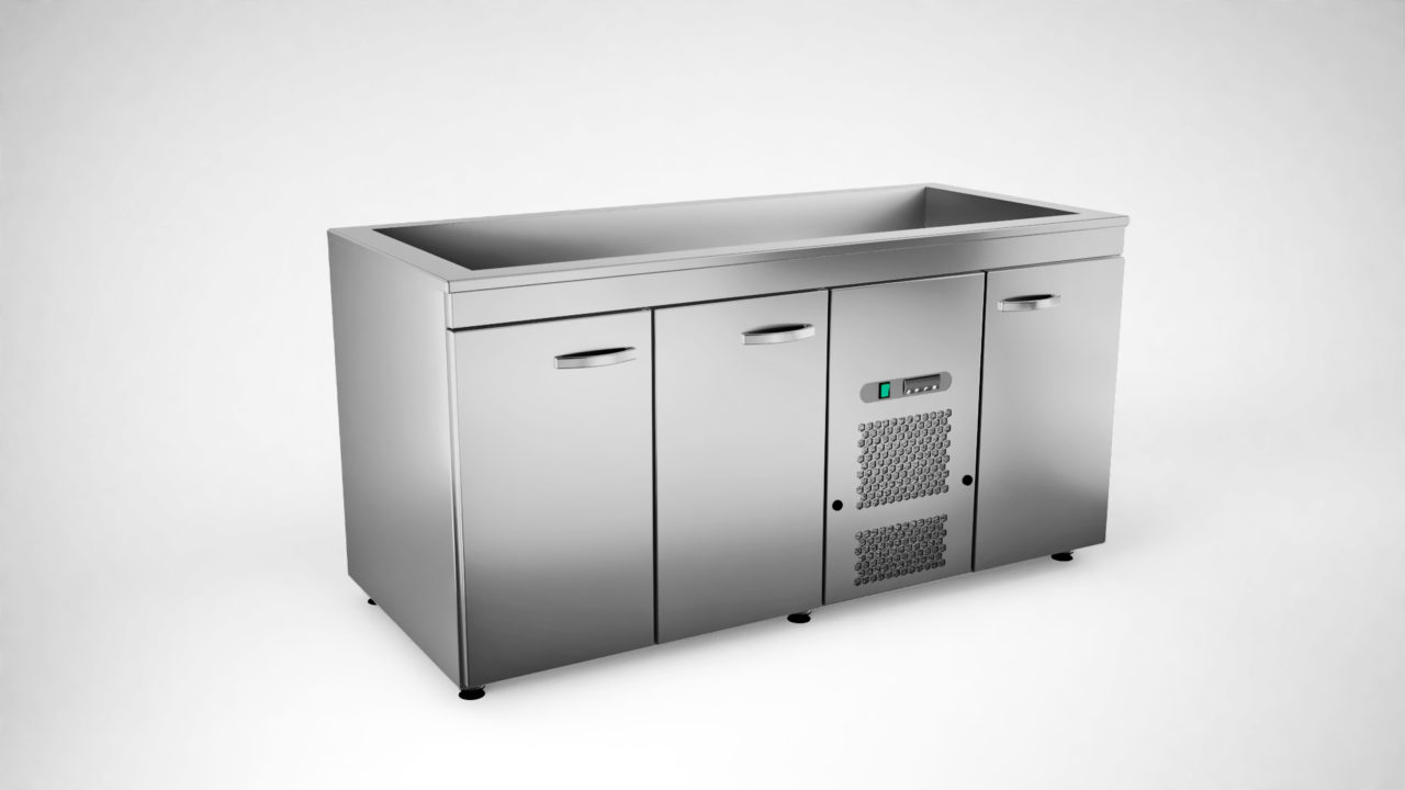 Cold cupboard with cold basin KSK-1630