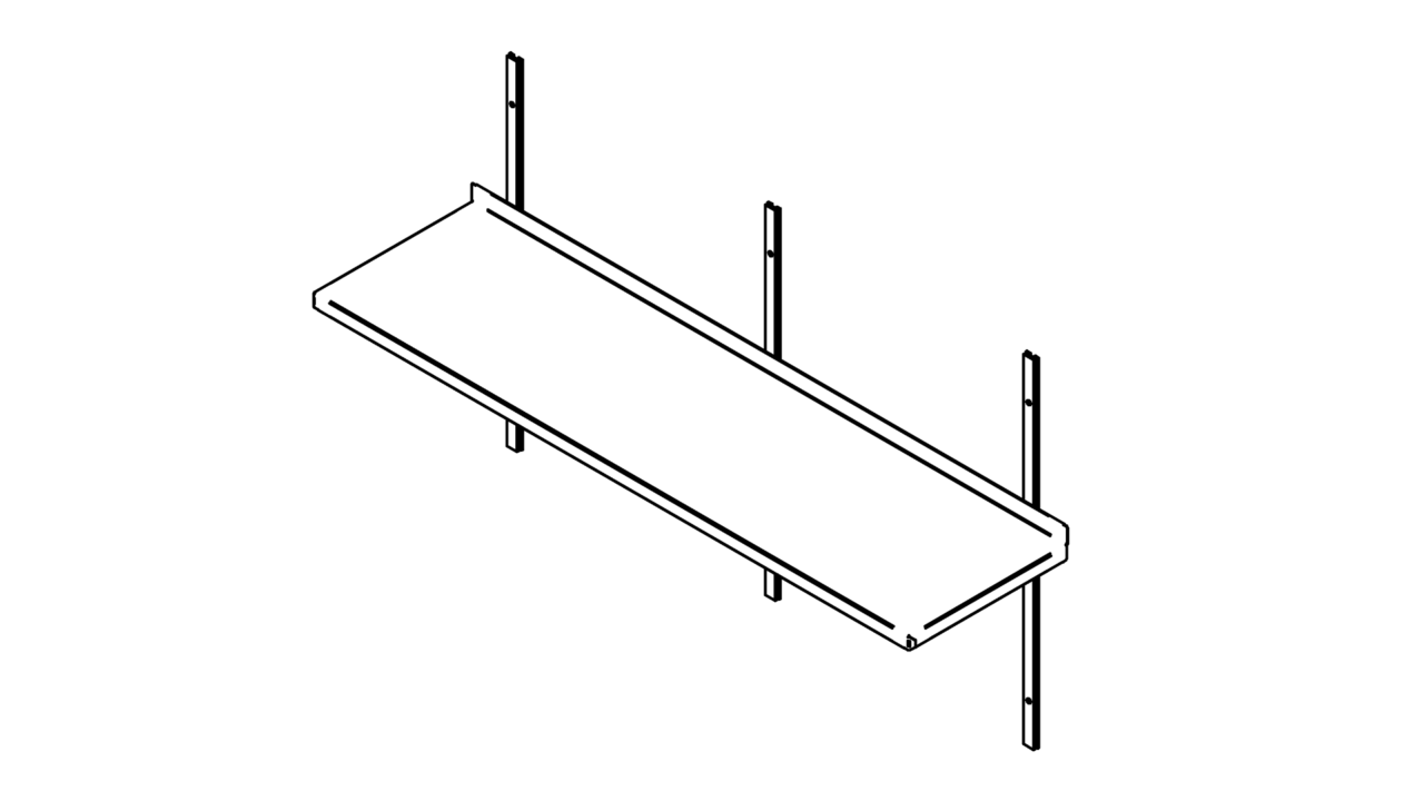 Wall shelf 1500 2400mm solid inox baltic o roostevabad suurkgid wall shelf 1500 2400mm solid ccuart Images